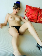 Thai brunette reveals her perfect Asian tits!